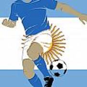 Argentina Soccer Player2 Art Print