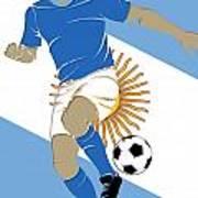 Argentina Soccer Player3 Art Print