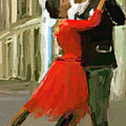 Argentina Tango Art Print by James Shepherd