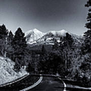Arizona Country Road In Black And White Art Print