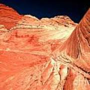 Arizona Sandstone Waves And Lines Art Print