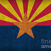 Arizona State Flag Art Print by Pixel Chimp