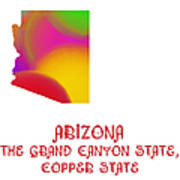 Arizona State Map Collection 2 Art Print