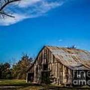 Arkansas Barn And Blue Skies Art Print by Jim McCain