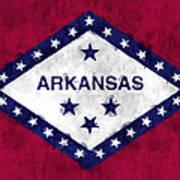 Arkansas Flag Art Print