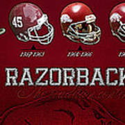Arkansas Razorbacks Football Panorama Art Print by Retro Images Archive