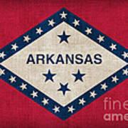 Arkansas State Flag Art Print by Pixel Chimp