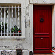 Arles House With Red Door Dsc01806  Art Print