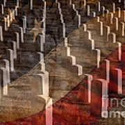 Arlington Cemetery With Faded Flag Art Print