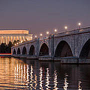 Arlington Memorial Bridge Art Print
