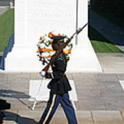 Arlington National Cemetery - Tomb Of The Unknown Soldier - 121210 Art Print by DC Photographer