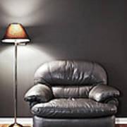 Armchair And Floor Lamp Art Print
