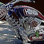 Armed Forces Tribute Bike Art Print