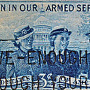 Armed Services Women Stamp Art Print