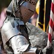 Armored Joust Knight Art Print