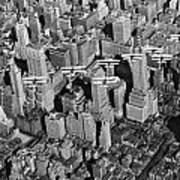 Army Air Corp Over Manhattan Art Print