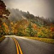 Around The Bend Clouds Along The Blue Ridge Parkway Art Print