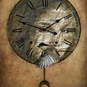 Around The Clock-time Is Flying Art Print