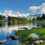 Arpy Lake - Aosta Valley Art Print