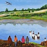 Arrival At The Baptism Art Print