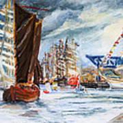 Arrival At The Hanse Sail Rostock Art Print