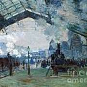 Arrival Of The Normandy Train Gare Saint-lazare Art Print