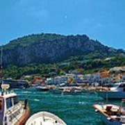 Arrival To Capri Art Print