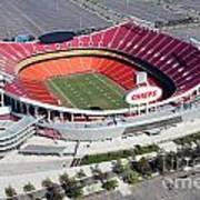 Arrowhead Stadium Kansas City Missouri Art Print