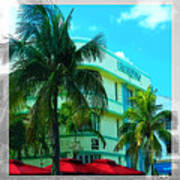 Art Deco Barbizon Hotel Miami Beach Art Print
