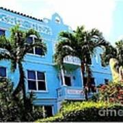 Art Deco Hotel In Miami Beach Art Print