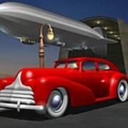 Art Deco Sedan Art Print