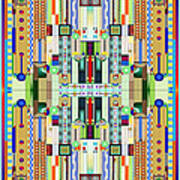 Art Deco Stained Glass 2 Art Print
