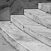 Art Deco Steps In Black And White Art Print