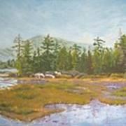 landscape print art for sale oil painting Serene Art Print
