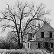 Art Homage Andrew Wyeth Abandoned 1930's Farm House Near Aberdeen South Dakota 1965-2012 Art Print