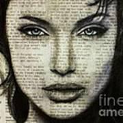 Art In The News 44- Angelina Jolie Art Print