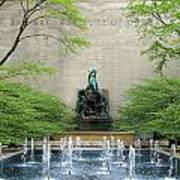 Art Institute Fountain Art Print