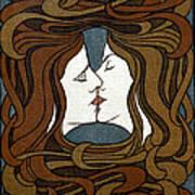 Art Nouveau Woodblock Print  1898 Art Print