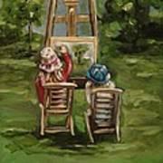 Art Of Teaching Oil Painting Art Print