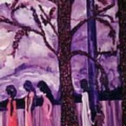 Art Purple Rain Art Print