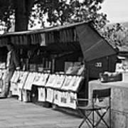 Art Seller On The Left Bank - Paris People Series Art Print by Georgia Fowler