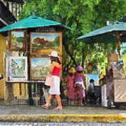 Art Show In San Juan Art Print