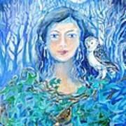 Artemis And The Wren- Art Print