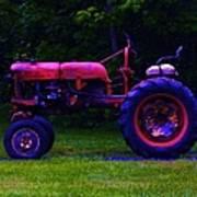 Artful Tractor In Purples Art Print