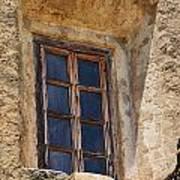 Artful Window At Mission San Jose In San Antonio Missions National Historical Park Art Print
