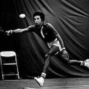 Arthur Ashe Returning Tennis Ball Art Print