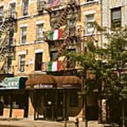 Arthur Avenue In The Bronx Art Print