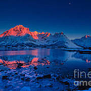 Artic Sunset Art Print by Francesco Ferrarini