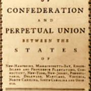 Articles Of Confederation, 1777 Art Print