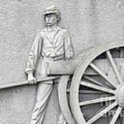 Artillery Detail On Monument Art Print
